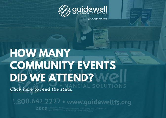 Guidewell Financial Solutions. How many community events did we attend?